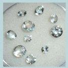 1.35ctw Lot of 10 Light Blue AQUAMARINE Round Cut Faceted Natural Loose Gemstones