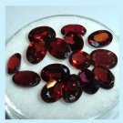 8.15ctw Lot of 15 Red GARNET Oval Cut 5x3mm Faceted Natural Loose Gemstones