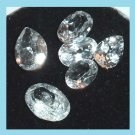 3.50ctw Lot of 6 WHITE TOPAZ Oval and Pear Cut Faceted Natural Loose Gemstones
