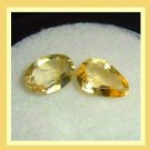 1.05ctw Lot of 2 GOLDEN YELLOW BERYL Oval and Pear Cut Faceted Natural Loose Gemstones