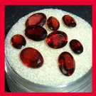 6.30ctw Lot of 9 Red GARNET Oval Cut Faceted Natural Loose Gemstones