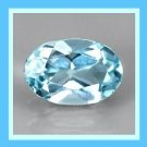 1.30ct SWISS BLUE TOPAZ Oval Cut 7x5mm Faceted Natural Loose Gemstone