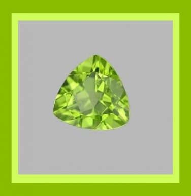 0.60ct PERIDOT Trillion Cut 5x5mm Faceted Natural Loose Gemstone