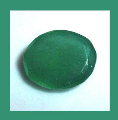 3.30ct GREEN ONYX Oval Cut 10x8mm Faceted Natural Loose Gemstone