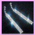 "Chandelier Round White Rhinestone & Silver set in 2 1/2"" inch Silver Post Earrings"