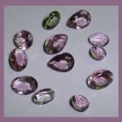 6.30ctw Lot of 12 AMETHYST Oval Round Pear Cut Faceted Natural Loose Gemstones
