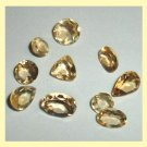 5.10ctw Lot of 10 GOLDEN YELLOW BERYL Round Oval Pear Trillion Faceted Loose Gemstones