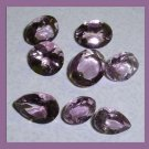 8.45ctw Lot of 8 AMETHYST Oval Pear Round Cut Faceted Natural Loose Gemstones