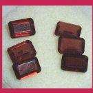 3.80ctw Lot of 6 Red GARNET 5x3mm Emerald Cut Faceted Natural Loose Gemstones