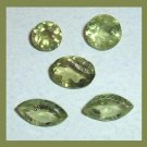 3.05ctw Lot of 5 Green PERIDOT Marquise Round Oval Cut Faceted Natural Loose Gemstones
