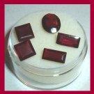 7.20ctw Lot of 5 Red GARNET Square Baguette Oval Faceted Natural Loose Gemstones