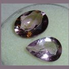 4.05ctw Lot of 2 AMETHYST Oval and Pear Cut Faceted Natural Loose Gemstones
