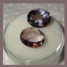 5.80ctw Lot of 2 AMETHYST 11x8mm Oval Cut Faceted Natural Loose Gemstones