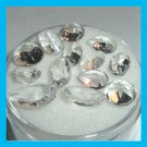 9.85ctw Lot of 12 WHITE TOPAZ Heart Round Oval Pear Cut Faceted Natural Loose Gemstones