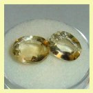 6.15ctw Lot of 2 GOLDEN YELLOW BERYL Oval Cut Faceted Natural Loose Gemstones