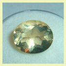 4.20ct GOLDEN YELLOW BERYL Oval Cut 12x10mm Faceted Natural Loose Gemstone