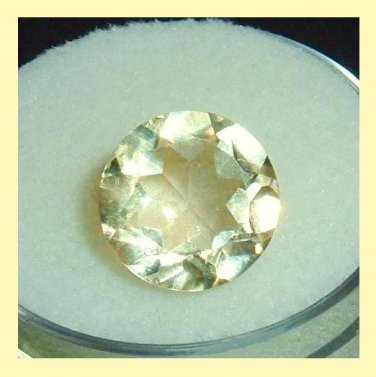 3.00ct GOLDEN YELLOW BERYL Round Cut 10mm Faceted Natural Loose Gemstone