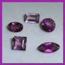 2.50ctw Lot of 5 AMETHYST Round Marquise Oval Square Emerald Cut Faceted Natural Loose Gemstones