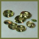 4.30ctw Lot of 8 PERIDOT Oval and Marquise Cut Faceted Natural Loose Gemstones