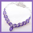 Purple QUARTZ Gemstone Marquise cut 925 Sterling Silver Overlay Necklace