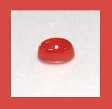 1.85ct Carnelian Oval 8x6mm Cabochon Simulated Loose Gemstone