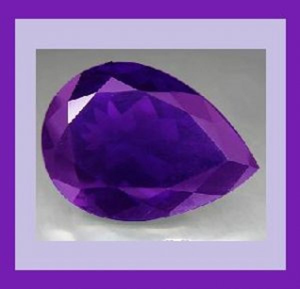 IOLITE 0.45ct Pear Cut 6x4mm Blue Faceted Natural Loose Gemstone