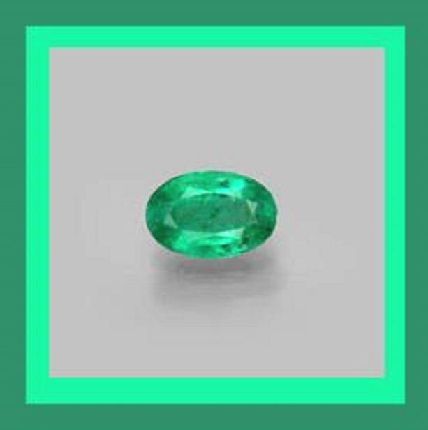 EMERALD 0.40ct Oval Cut 6x4mm Green Faceted Natural Loose Gemstone