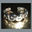 Braided Design Sterling Silver Toe Ring