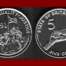 ERITREA 1997 5 CENTS LEOPARD COIN KM#44 Africa BEAUTIFUL!