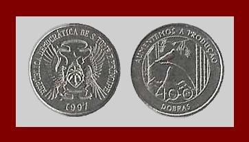 SAO TOME & PRINCIPE 1997 100 DOBRAS COIN KM#87 ~ AU ~ Africa ~ BEAUTIFUL!