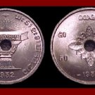 LAOS 1952a 50 CENTS COIN KM#6 ASIA Fragipani Flower ~ LOW MINTAGE!