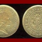 HONG KONG 1990 50 CENTS COIN KM#62 22mm ASIA