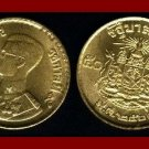 THAILAND 1957 50 SATANG 1/2 BAHT COIN Y#81 BE2500 ASIA - BEAUTIFUL GOLD COLOR!