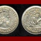 BRITISH EAST CARIBBEAN TERRITORIES 1956 10 CENTS COIN KM#5 Galleon Ship