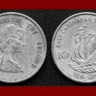 EAST CARIBBEAN STATES 1981 10 CENTS COIN KM#4 Galleon Ship
