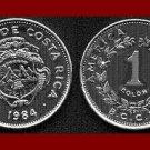 COSTA RICA 1984 1 COLON COIN KM#210.1 Central America ~ BEAUTIFUL!