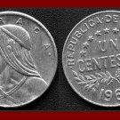 PANAMA 1966 1 CENTESIMO BRONZE URRACA COIN KM#22 Central America