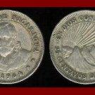 NICARAGUA 1964 25 CENTAVOS COIN KM#18.2 Central America - Conquistador Cordoba - SCARCE!