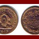 HONDURAS 1956 2 CENTAVOS BRONZE COIN KM#78 Central America ~ BEAUTIFUL!
