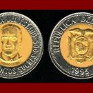 ECUADOR 1995 500 SUCRES COIN KM#97 South America - Bi-Metal Coin