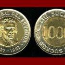 ECUADOR 1997 1,000 SUCRES COIN KM#103 South America - Bi-Metal Coin