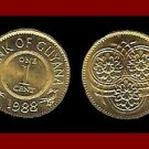 GUYANA 1988 1 CENT COIN KM#31 South America ~ LOW MINTAGE! ~ AU ~ BEAUTIFUL!
