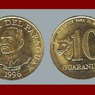 FAO ISSUE - PARAGUAY 1996 10 GUARANIES COIN KM178 South America Spanish Conquistador AU BEAUTIFUL!