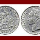 VENEZUELA 1967 1 BOLIVAR COIN Y#42 South America El Libertator Simon Bolivar