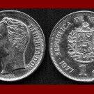 VENEZUELA 1977 1 BOLIVAR COIN Y#52 South America El Libertator Simon Bolivar
