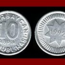 AZERBAIJAN 1992 10 QAPIK COIN KM#32 Eurasia ~ BEAUTIFUL!