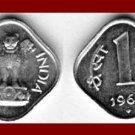 INDIA 1966 1 PAISA COIN KM#10.1 (592) EURASIA ~ BEAUTIFUL!