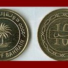 BAHRAIN 2000 10 FILS BRASS COIN KM#17 AH1420 ~ AU ~ Middle East - Palm Tree ~ BEAUTIFUL!