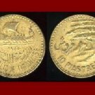 LEBANON 1955 10 PIASTRES COIN KM#22 Middle East - Sailboat & Cedar Tree