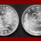 ALBANIA 1964 20 QINDARKA COIN KM#41 Communist Europe
